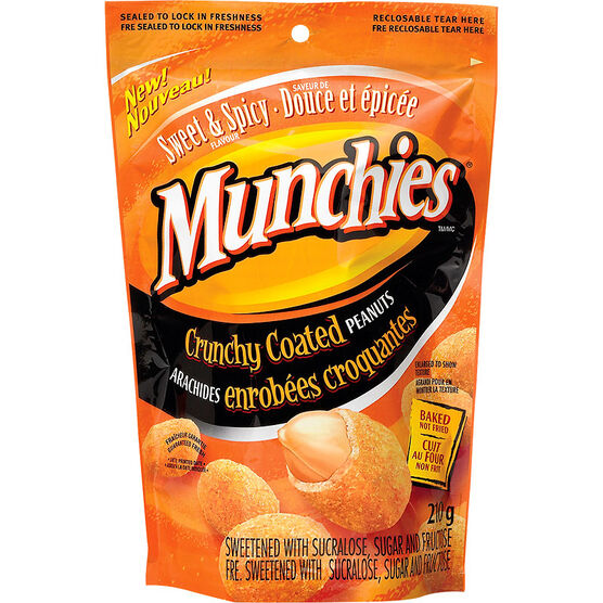 Munchies Crunchy Coated Peanuts - Sweet & Spicy - 210g