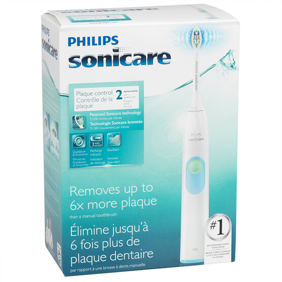 Philips Sonicare 2 Series Plaque Control Rechargeable Sonic Toothbrush - HX6211/04