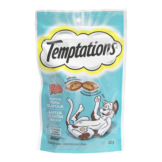 Whiskas Temptations Treats for Cats - Tempting Tuna Flavour - 85g
