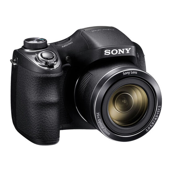 Sony H300 High Zoom Point and Shoot Camera - Black - DSCH300B
