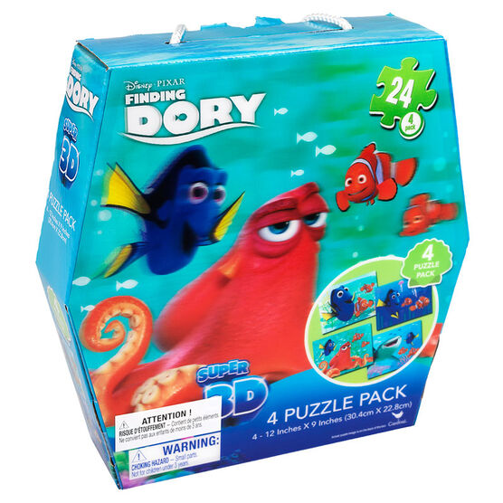 Finding Dory Super 3D - 4 Puzzle Pack