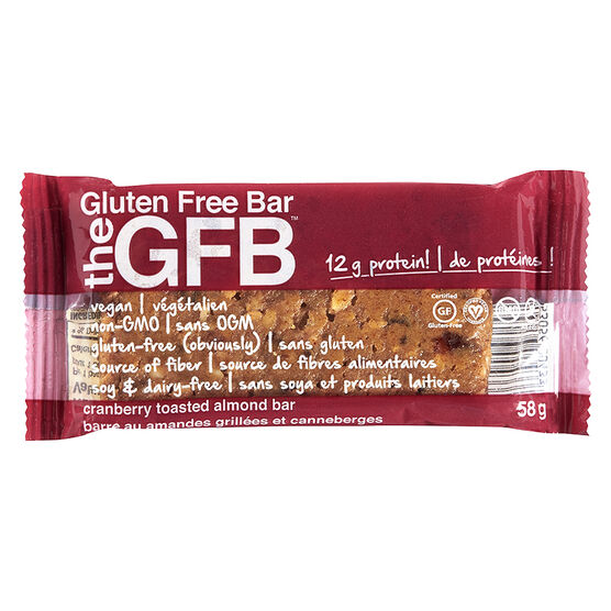 the GFB Bar - Cranberry Toasted Almond - 58g