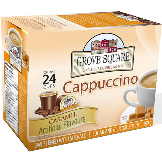 Grove Square Cappuccino - Caramel - 24 pack