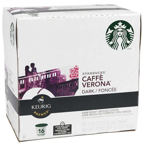 K-Cup Starbucks Coffee Pods - Caffe Verona - 16's