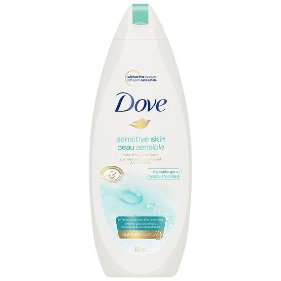 Dove Sensitive Skin Unscented Body Wash - 354ml