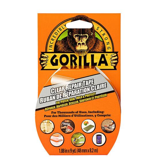 Gorilla Clear Repair Tape - 1.88 inch x 27 feet