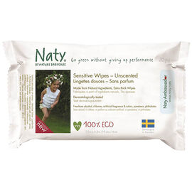 Nature Babycare Sensitive Wipes - Unscented - 20's