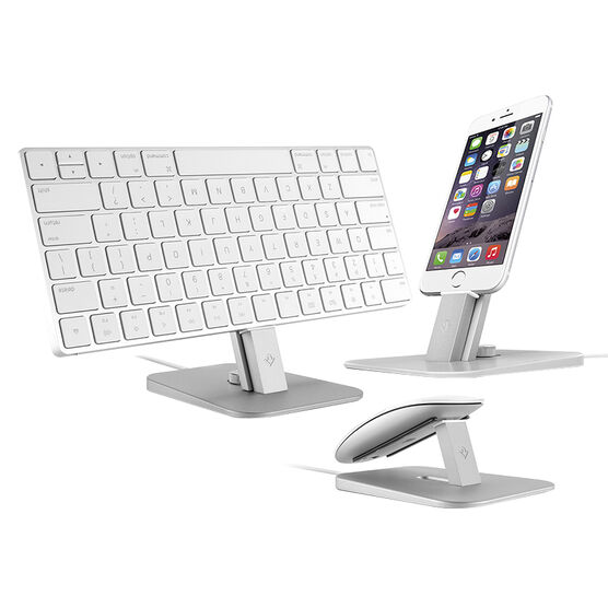 Twelve South HiRise Deluxe Stand for iPhone and iPad - Silver - TS-12-1421