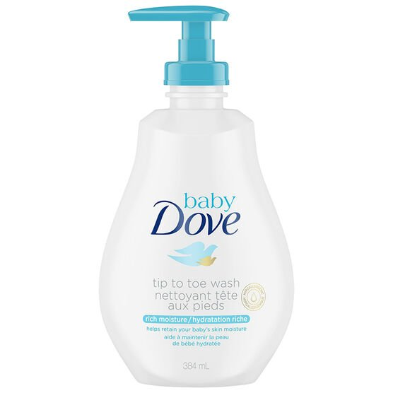 Baby Dove Rich Moisture Tip to Toe Baby Wash - 384ml