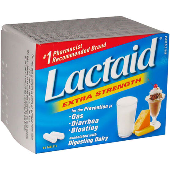 Lactaid Extra Strength - 80's