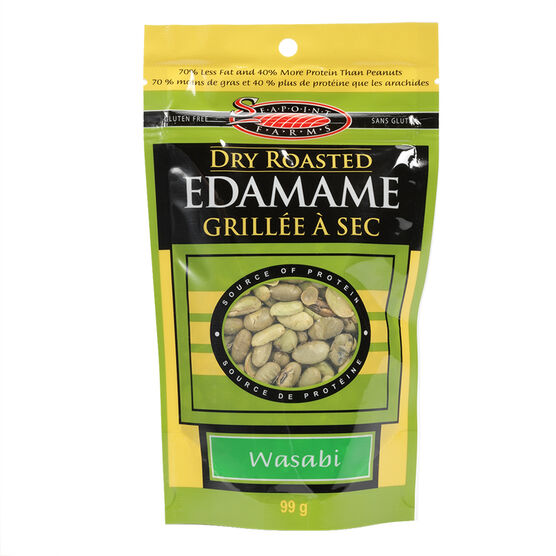 Seapoint Farms Dry Roasted Edamame - Wasabi - 113g