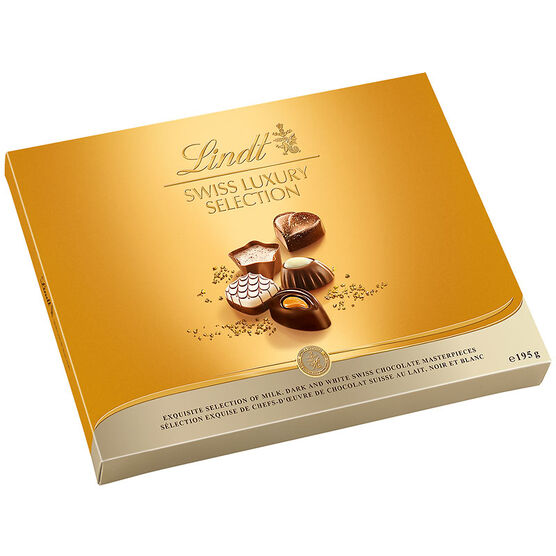 Lindt Swiss Luxury Assorted Chocolates - 195g
