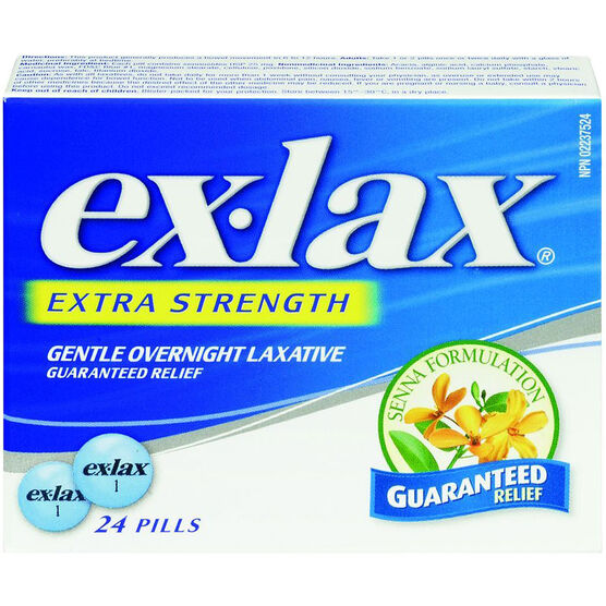 Ex-Lax Extra Strength Laxative Senna Formulation - 24's
