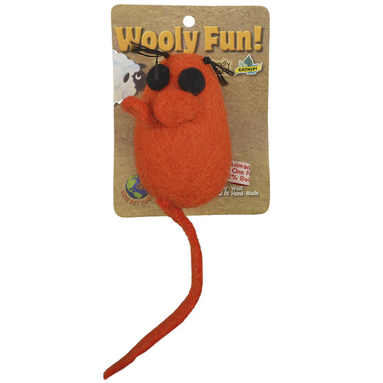 Wooley Space Mouse Cat Toy - Assorted