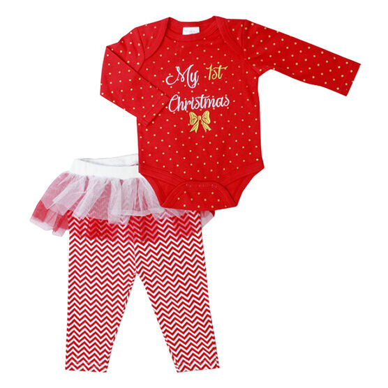 Baby Mode My First Christmas Tutu Set - 0-9 months - Assorted