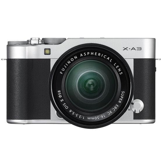Fujifilm X-A3 with XC 16-50mm OIS II Lens - Black/Silver - 600017209
