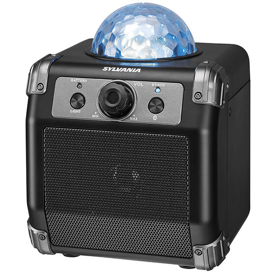 Sylvania Bluetooth Portable Speaker with Disco Ball - Black - SP613