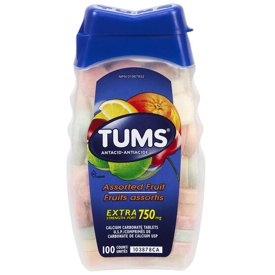 Tums Extra Strength - Assorted Fruit Flavours - 100's