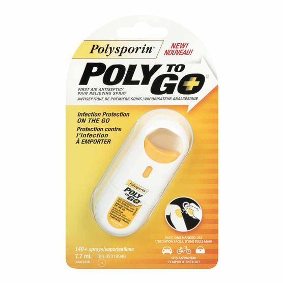 Polysporin Poly to Go Spray - 140 sprays