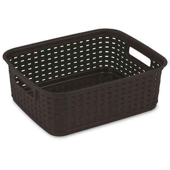 Sterilite Weave Basket - Espresso - Short