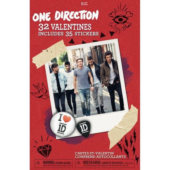 Plus Mark One Direction Valentine's Day Cards - 32 pack