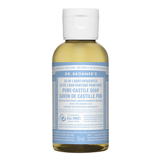 Dr Bronner's 18-In-1 Baby Unscented Liquid Soap - 59 ml