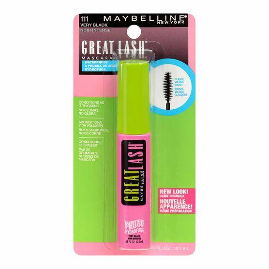Maybelline Great Lash Waterproof Mascara - Very Black