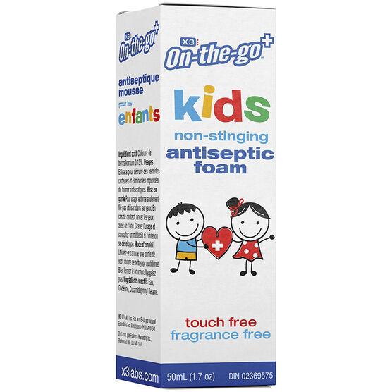 X3 On-The-Go Kids Antiseptic Foam - 50ml