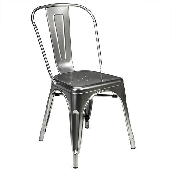 London Drugs Metal Chair - Silver