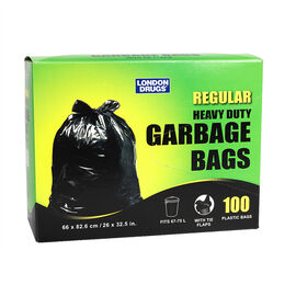 London Drugs Heavy Duty Garbage Bags - Black - 100's