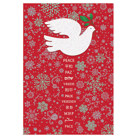 Unicef Dove on Red Background