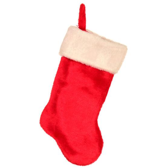 "Christmas Plush Stocking - 19"""