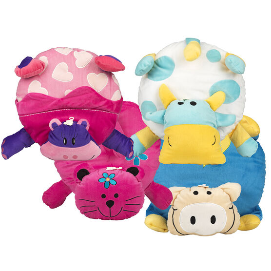 Animals Pillow with Tail - Assorted - T2-789/4