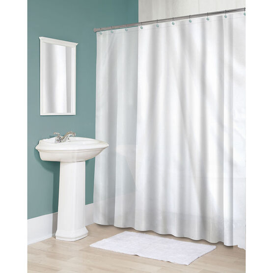 Splash Fabric Shower Curtain Liner - White