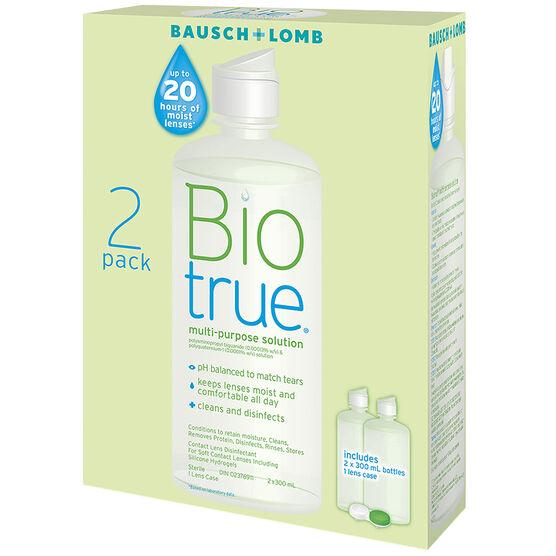 Bausch & Lomb Bio True Multi-Purpose Solution - 2 x 300ml