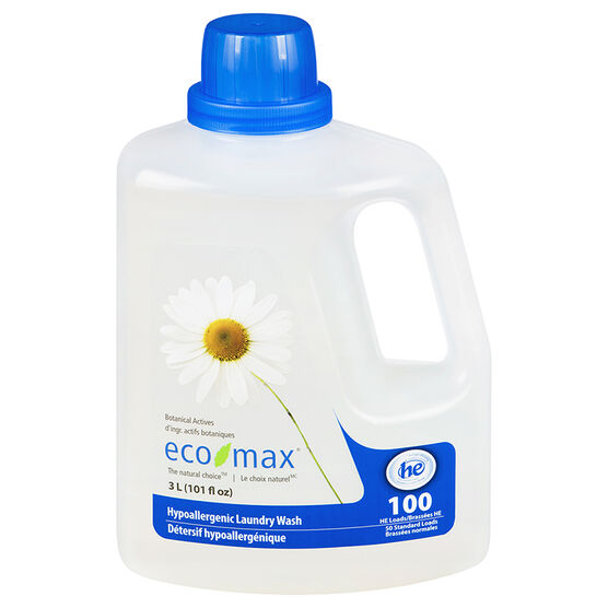 Eco Max Hypoallergenic Laundry Detergent - 3L/50 loads