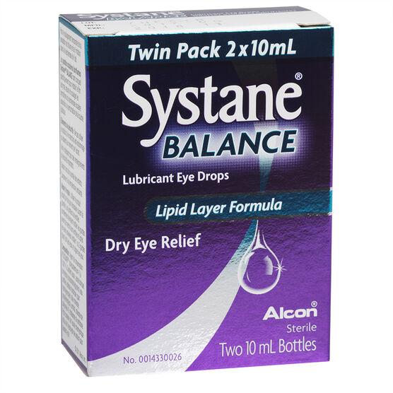 Systane Balance Lubricant Eye Drops - 2 x 10ml