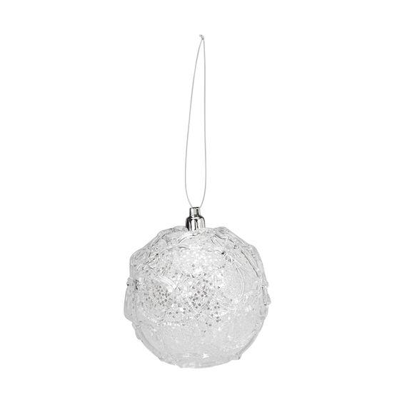 Polar Ice Ball Ornament - Clear/White - 9cm