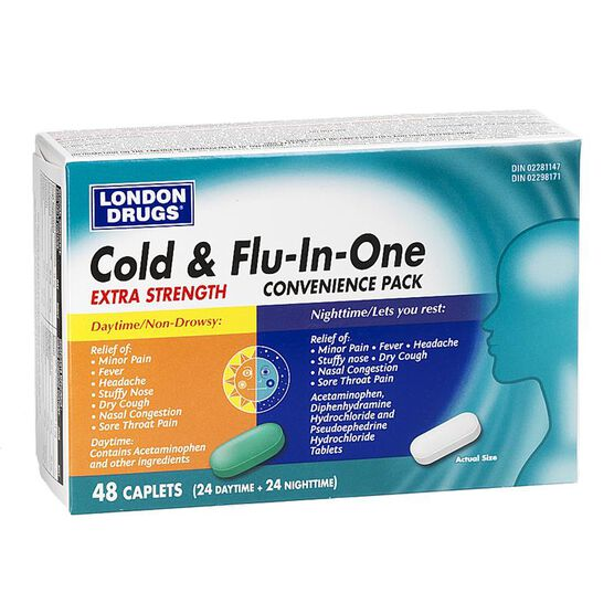 London Drugs Cold & Flu-in-One - Extra Strength - 48's
