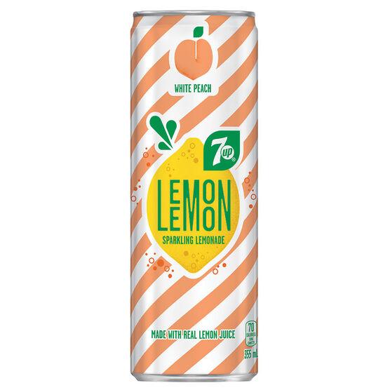 Lemon Lemon Sparkling Lemonade - White Peach - 355ml