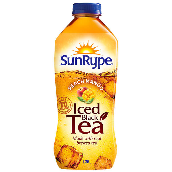 Sun-Rype Iced Black Tea - Peach Mango - 1.36L