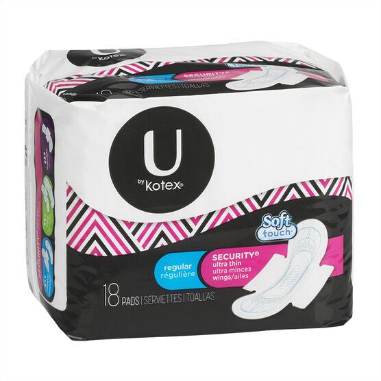 U by Kotex Ultrathin Maxi with Tabs - 18's