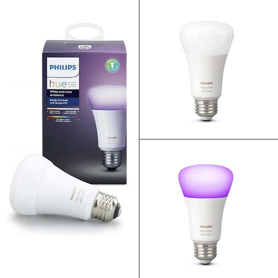Philips Hue Colour A19 LED Single Bulb