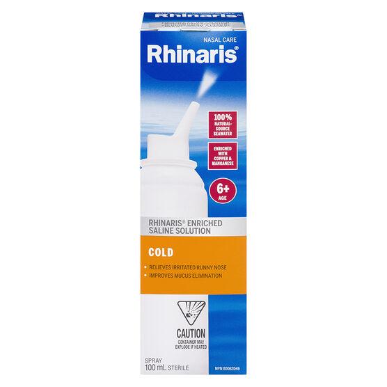 Rhinaris Enriched Saline Solution Spray - Cold - 100ml
