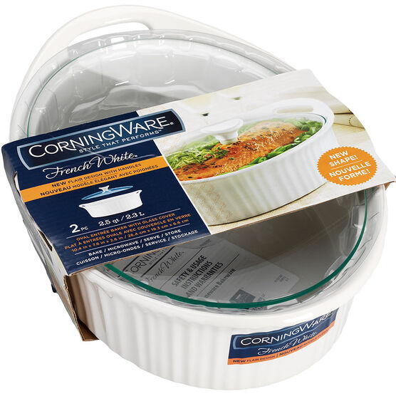 Corningware Baker with Glass Cover - French White - 2.3L