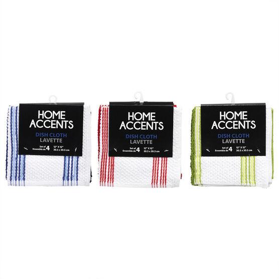 Home Accents Striped Popcorn Dish Cloth - 30.5 x 30.5cm