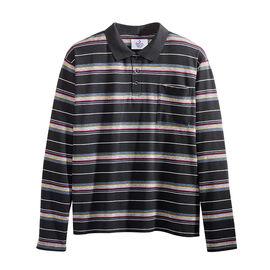 Silvert's Men's Striped Open-Back Polo Top - Small - XL