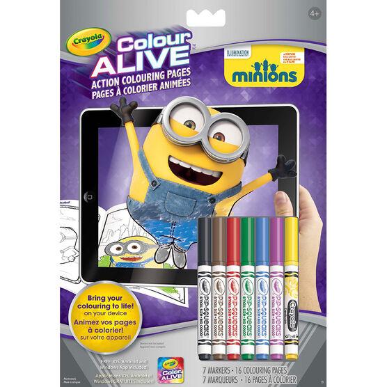 Crayola Colour Alive Colouring Book - Minions