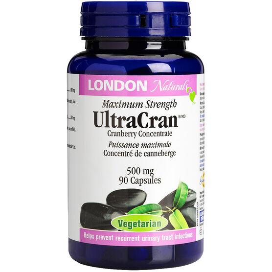 London Naturals UltraCran Maximum Strength - 500mg - 90's