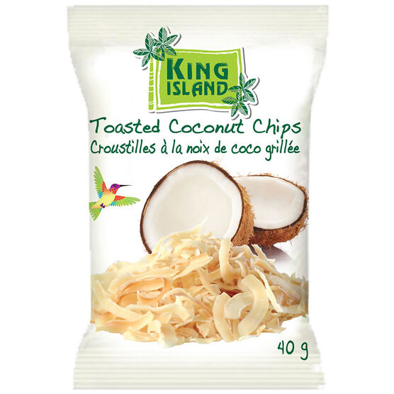 King Island Toasted Coconut Chips - 40g
